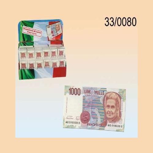 Fazzoletti di carta a 3 strati a forma di banconota da 1000 Mille Lire