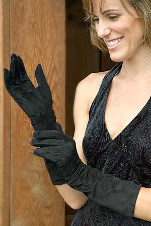 Buy Women's Suede Opera Gloves
