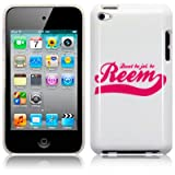 White Pink Hard Back Case Cover For Apple iPod Touch 4TH Dont Be Jel Be Reem PART OF THE QUBITS ACCESSORIES RANGEby CallCandy