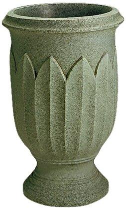 Crescent Garden A654380 26-inch Freda Urn Planter in Weathered Grey-Stone