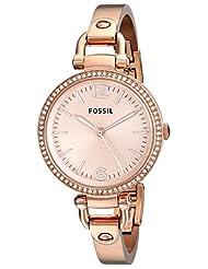 Fossil Georgia Analog Rose Gold Dial Women's Watch - ES3226