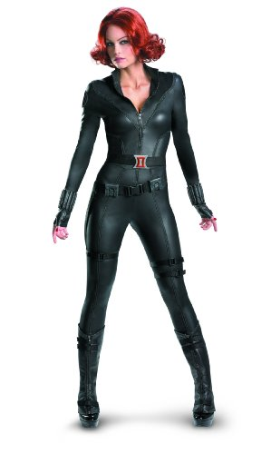 Disguise Marvel's Avengers Movie Black Widow Avengers Theatrical Adult Costume, Black, Medium/(8-10)