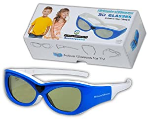 Kids SONY Compatible 3D Glasses Childrens Ultra-Clear HD for Sony 3D TV's Rechargeable