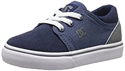 DC Trase Slip Skate Shoe (Toddler), Navy/Grey, 7 M US Toddler