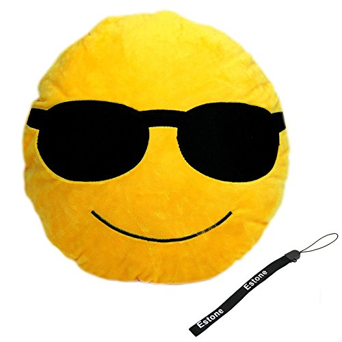 Best Prices! Estone® Soft Emoji Smiley Emoticon Yellow Round Cushion Pillow Stuffed Plush Toy Doll ...
