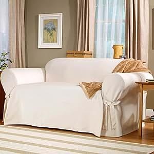 Sofa slipcover white natural home kitchen - Copridivano amazon ...