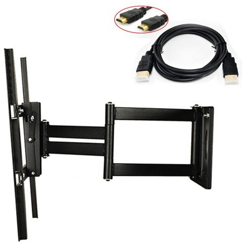 "Atc Lcd Led Down / Forward: 20 Degrees,Right / Left: 180 Degrees Plasma Flat Tilt Arm Tv Wall Mount For Sony 14 17 19 20 32 40-Inch,Vesa Up To 400Mm X400Mm (14"" 17"" 19"" 20"" 22"" 24"" 40"") With 6Ft Hdmi Cable"