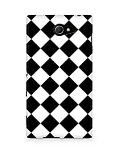 Amez designer printed 3d premium high quality back case cover for Sony Xperia M2 D2302 (Chess Simple Pattern)