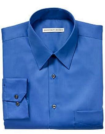Geoffrey Beene Sateen Fitted Dress Shirt - Blue Frost (16.5 34/35)