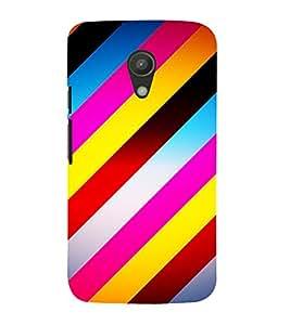Slant Line Pattern 3D Hard Polycarbonate Designer Back Case Cover for Motorola Moto G2 X1068 :: Motorola Moto G (2nd Gen)