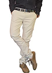 Nation Polo Club Men's Slim Fit Casual Trouser CT410128_Beige_28
