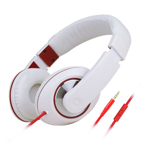 E'Max® Hd680 Lightweight Portable Stereo Earphone Over Ear Headphones Headset For Mp3,Mp4,Pc,Tablet,Most Smartphone White