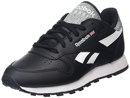 Reebok Classic Leather Pop, Scarpe da Ginnastica Basse Unisex - Adulto, Nero (Black/White), 43 EU