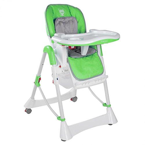 Froggy Seggiolone Bambini Bimbi Pappa Cintura di Sicurezza , Regolabile, Pieghevole Verde