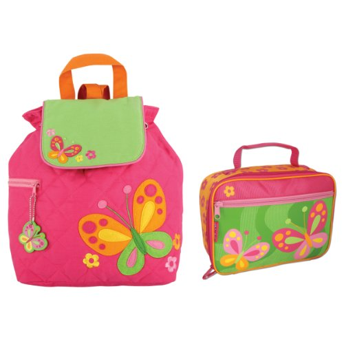 Stephen Joseph Quilted Butterfly Backpack And Lunch Box - Toddler Backpacks - Preschool Backpacks front-1037528