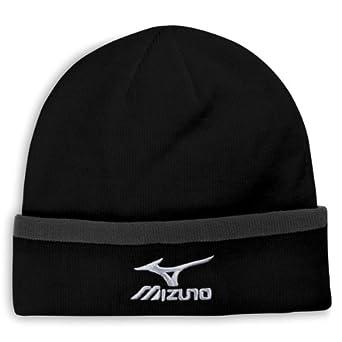 Mizuno Fleece Winter Hat Mens Golf Beanie Charcoal
