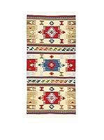 Kilim Carpets by Jalal Alfombra Kilim Fine 688 (Beige/Multicolor)