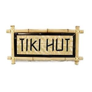 Bamboo - Tiki Hut Garden Sign