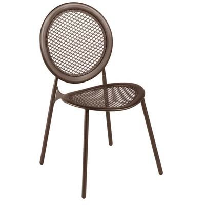 Emu 333964100 Antonietta Stapelstuhl 3396, pulverbeschichteter Stahl, indisch braun, 4-er Set online bestellen