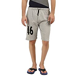 Hotfits grey graphic summer shorts-48