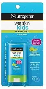 Neutrogena Wet Skin Kids Sunscreen Stick, SPF 70, 0.47 oz