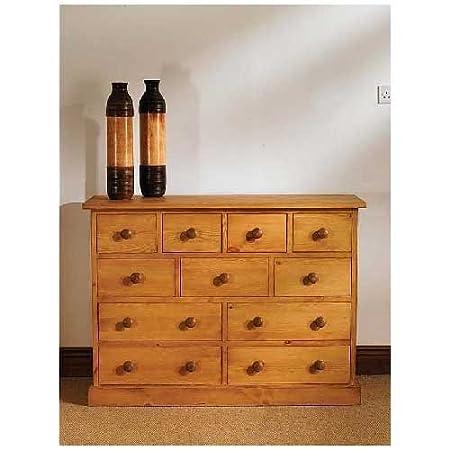 Harrogate WAXED pine furniture multi CHEST OF DRAWERS