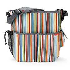 Extraordinarily Durable Skip Hop Duo Essential Diaper Bag With Cushioned changing pad - Metro Stripe Nourrisson, Bébé, Enfant, Petit, Tout-Petits
