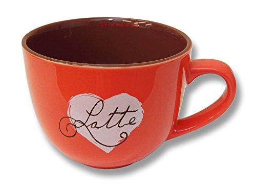 Luv Latte 20Oz Ceramic Cappuccino Mug - Coral