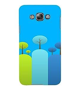 PrintVisa Colorful Tree Design 3D Hard Polycarbonate Designer Back Case Cover for Samsung Galaxy E7