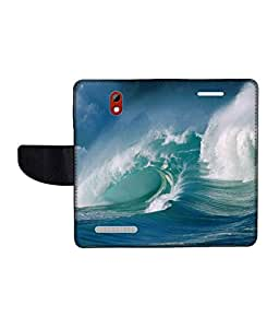 KolorEdge Printed Flip Cover For HTC Desire 500 -Multicolor (45KeMLogo10561HTC500)