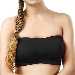 BYC TB-1001 Black Non-Padded Tube Bra for Girl's & Women-28