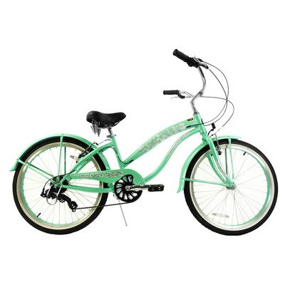 Women's 7 Speed Beach Cruiser Frame Color: Mint Green