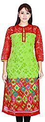 MARMITTE Women's Polyester Empire Kurtas (MMT-42, Multi-Color, S)