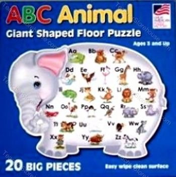 Cheap Fun Great American Puzzle Factory ABC Animal Giant Shaped Floor Puzzle (B000PCKEWC)