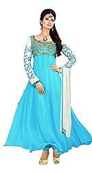Clickedia Women Faux Georgette Dress Material (El30008-Sky Blue _Sky Blue _Free Size)