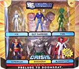 41hzRxvD9cL. SL160  DC Universe Infinite Heroes Crisis Exclusive Action Figure 6Pack Prelude to Doomsday Ice, Guy Gardner, Fire, Superman, Doomsday Bloodwynd