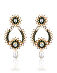 Pearl Drop Earring By Zaveri Pearls-Zpfk293