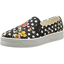 Desigual SHOES TOPOS FLOR, Low-Top Sneaker donna, Nero (Schwarz (2000)), 40