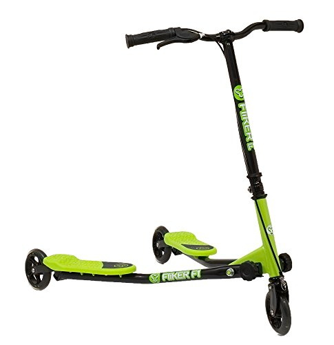 Y-volution Yfliker F1 Scooter - Green and Black