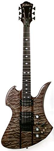 B.C. Rich Mockingbird St Mgstbb Mockingbird St Electric Guitar, Black Burl