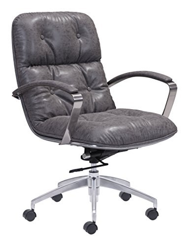 Zuo Modern Avenue Office Chair, Vintage Gray (Vintage Chair For Desk compare prices)