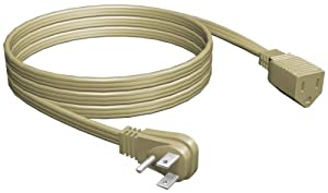 Stanley 31526 Grounded Heavy Duty Appliance Extension Cord, 6-Feet, Beige