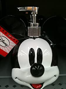 Mickey mouse lotion and soap dispenser childrens bathroom accessory sets - Mickey mouse bathroom accessory set ...