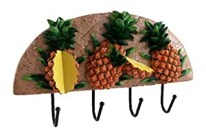 Wall Decor Plaque Pineapple Fruit, wrought iron wall hook Pine apple
