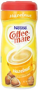 Coffee-mate Coffee Creamer, Hazelnut Canister, 15-Ounce Containers (Pack of 12)