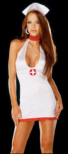 "Dream Girl Lingerie ""Bedroom Nurse"" White Os Queen"