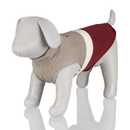 Artikelbild: Trixie Pullover Calgary, XS: 25 cm, grau/beige/bordeaux