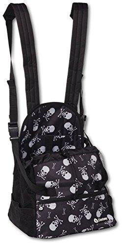 Doxtasy-Front-Carrier-Hundetragetasche-fr-Kleintiere-bis-max-9-kg-Skull-and-Bones