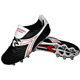 Diadora Men\'s Rugby Low Synthetic Rugby Cleat,Black/White,7.5 M