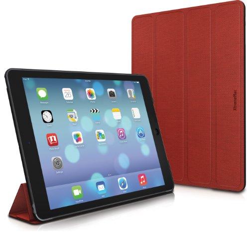 XtremeMac iPad Air用 マルチアングル式の超薄型フォリオケース オートスリープ機能対応 Microfolioシリーズ ポピーレッド IPD-MF5-73